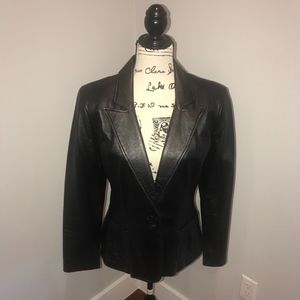 The limited 100% Genuine Leather blazer